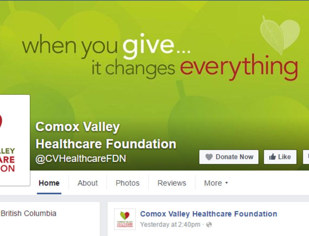 Comox Valley Healthcare Foundation Facebook Cover Art