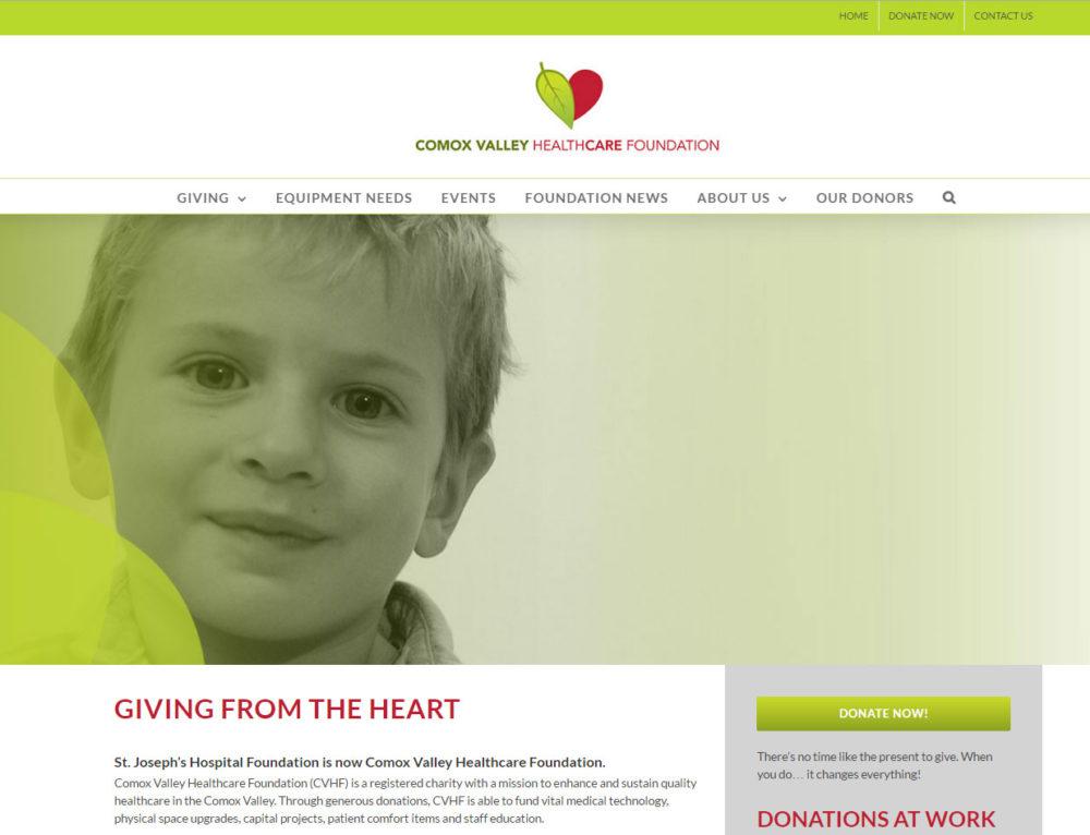 Comox Valley Healthcare Foundation Website