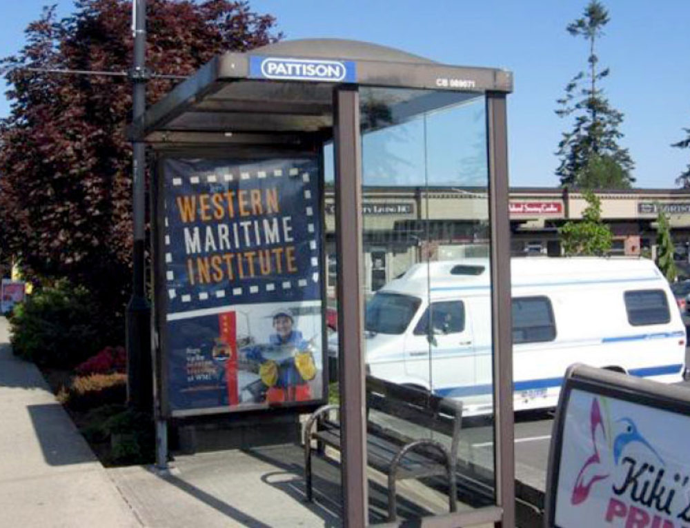 Western Maritime Institute Transit Shelter