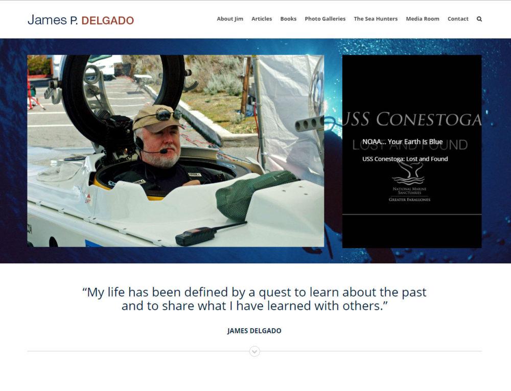 James Delgado Website