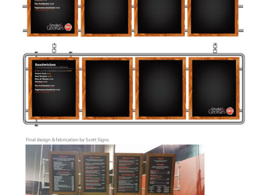 Smokin' George's Menu Boards
