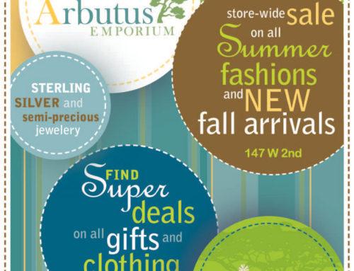 Arbutus Emporium Newspaper Advertising